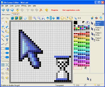 Click to view Sib Cursor Editor 3.13 screenshot