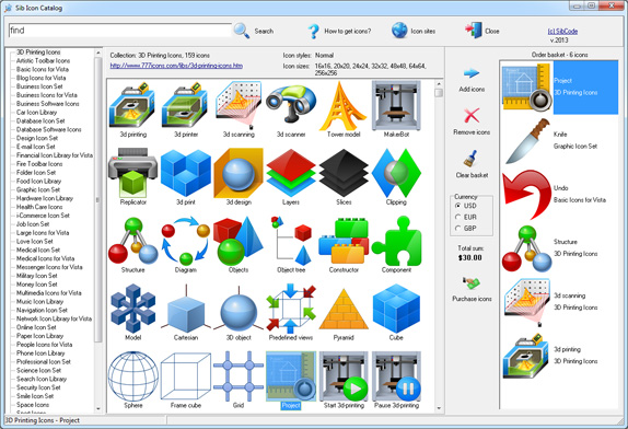 Sib Icon Catalog screen shot