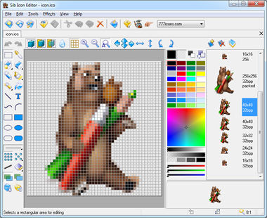 Click to view Sib Icon Editor 5.0 screenshot