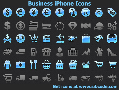 Business iPhone Icons full screenshot