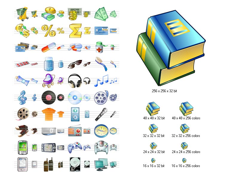 Click to view i-Commerce Icon Set screenshots
