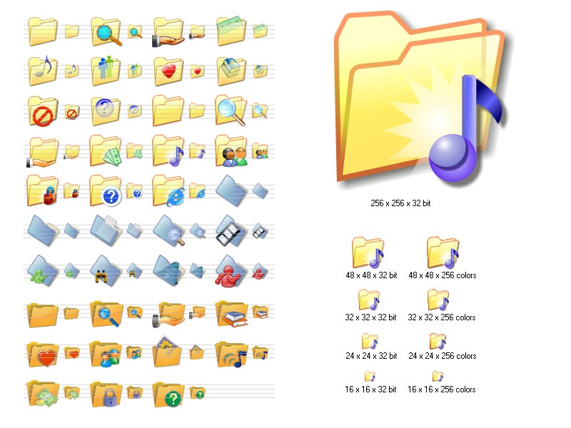 Click to view Folder Icon Set 2.6 screenshot