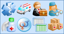 Medical Toolbar Icon Set