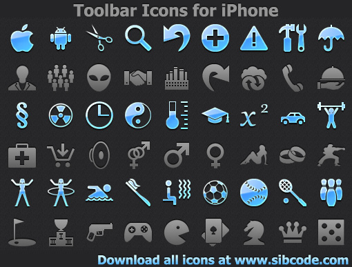 Click to view Toolbar Icons for iPhone 2011.1 screenshot