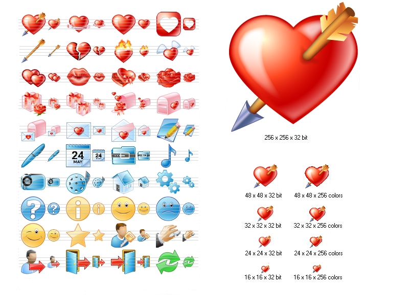 Click to view Love Icon Set screenshots