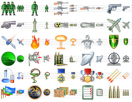 Military Icon Set - war,stock,icon,icons,set,ico,collection,icone,military,file - Plenty of military icons to enhance an interface of  Windows software