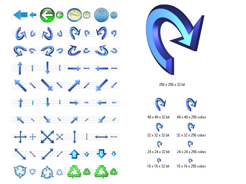 Navigation Icon Set screenshot: stockicons,stock,icon,icons,set,ico,collection,icone,arrow