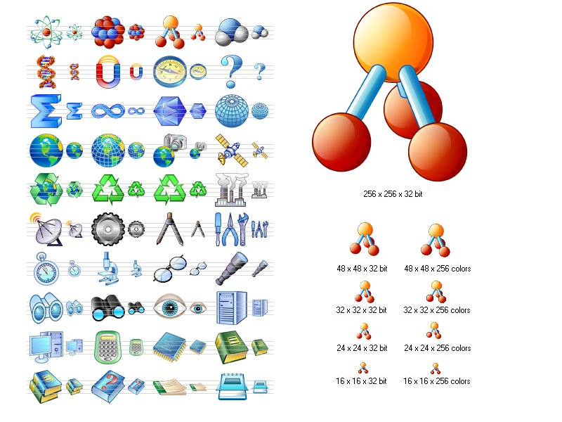 Science Icon Set screenshot