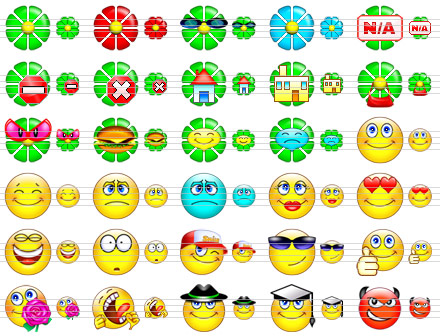 An extensive set of emoticons for application and website developers