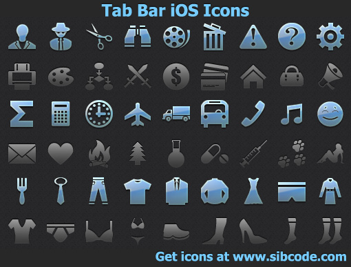 Tab Bar iOS Icons 2013.1 full